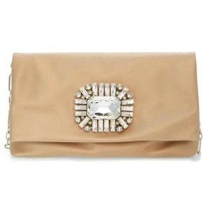 Jimmy Choo Clutch Titania Gold Satin Shoulder Bag